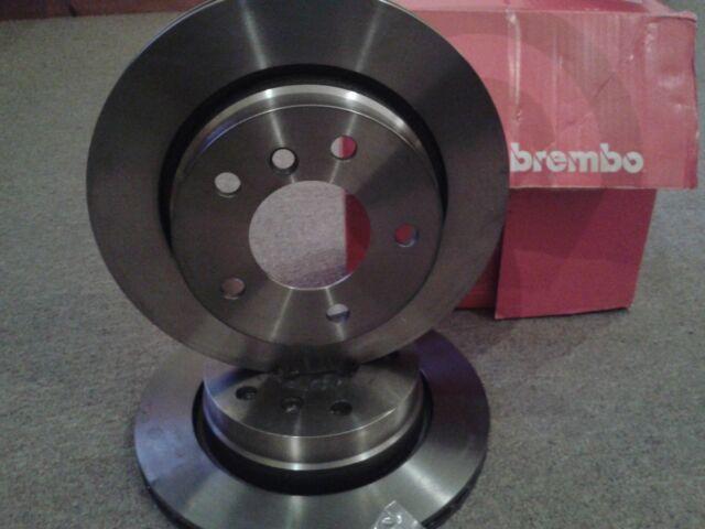 NEW BREMBO REAR BMW VENTED BRAKING DISCS PAIR BRAKE DISCS SET  09.7727.10