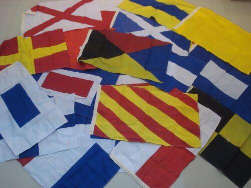 LARGE - International Maritime Signal Flags /FLAG -Set of Total 26 flag -16 X 28