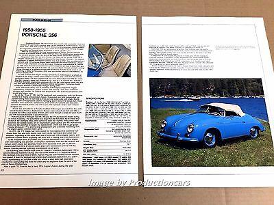 Porsche 356 Original Car Review Print Article J669 1950 1951 1953 1954 1955