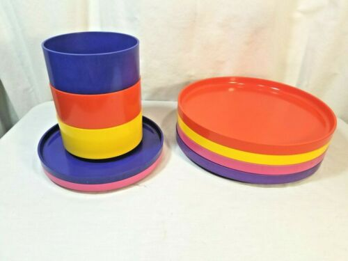 Lot of 9  Heller kitchen ware Melmac Melamine Plastic Vintage Mid Century mixed