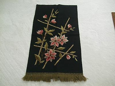 ANTIQUE WALL HANGING HAND MADE EMBROIDERY, C.1900