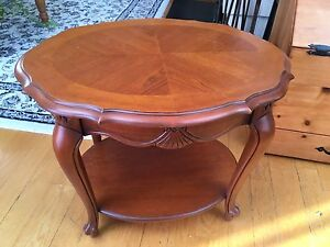 Antique Elegant Solid Maple  table .