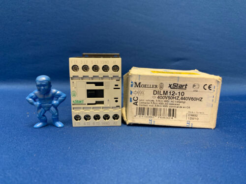Eaton/Moeller DILM12-10 3 Pole Contactor, 12A, 400V ac Coil, xStart, 3NO, 5.5kW