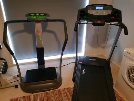 Treadmill and shaker machine