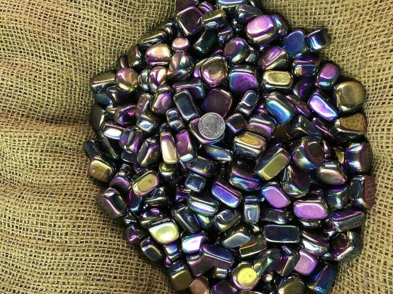 3000 Carat Lots of Polished Tumbled Rainbow Hematite + FREE Faceted Gemstone
