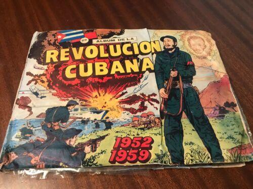 VINTAGE ALBUM DE LA REVOLUCION CUBANA, 1952-1959 INCLUDES 271 TRADING CARDS