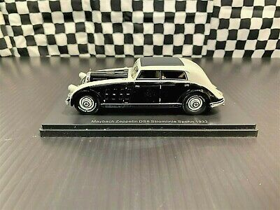 Neo Models 1932 Maybach Zeppelin DS8 Stromlinie Spohn-Black/Gry-1:43 w/Case/Slve