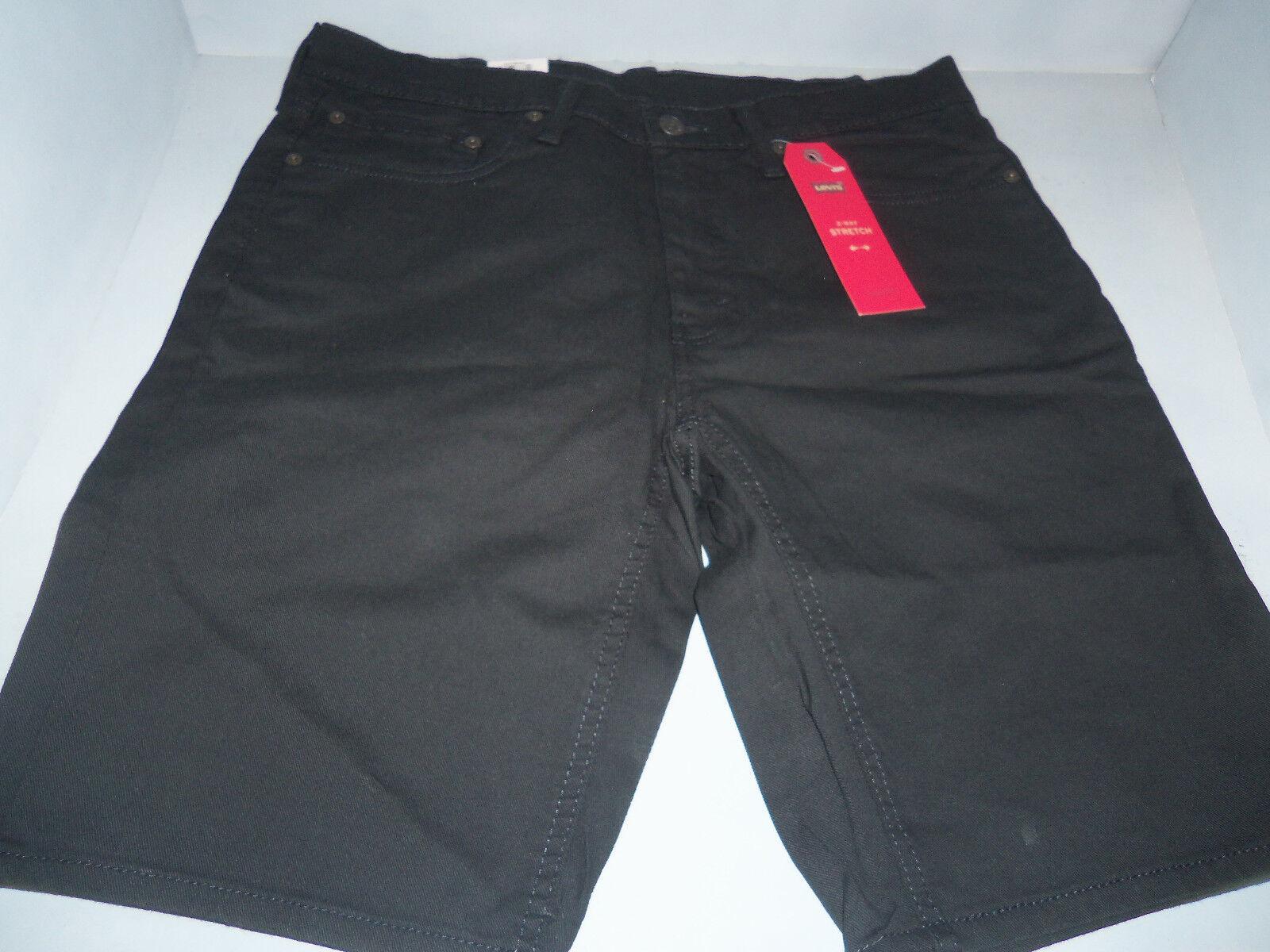 Levi's 541 Men's Athletic Fit Jeans Shorts Cotton Black- Jet