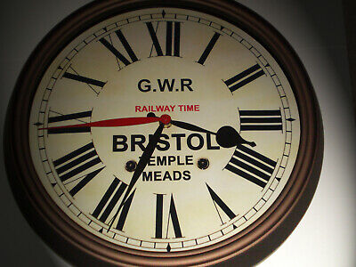 GWR Railway Time, Victorian Style Dual Time Clock, Bristol Temple Meads.