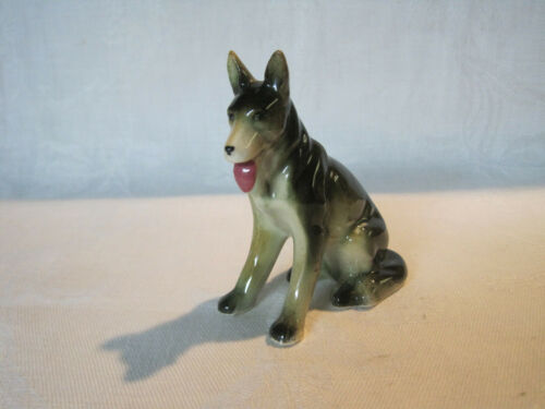 Vintage porcelain German Shepherd dog figurine Japan