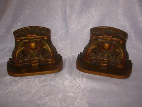 Antique Rare Judd Bronze Art Deco / Nouveau Scroll Bookends $REDUCED