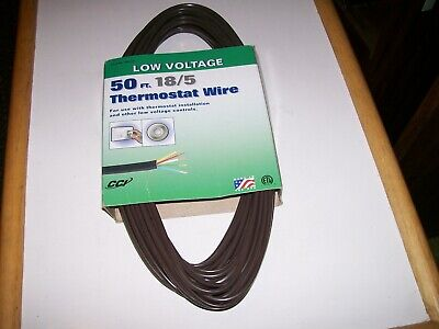 Cci Coleman Cable Inc. Thermostat Wire 185 50 Feet Low Voltage Made In Usa