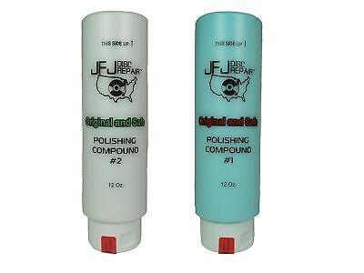 Original JFJ Polish Compound Combo Pack 12oz Blue #1 & White #2 (JFJ Easy Pro...
