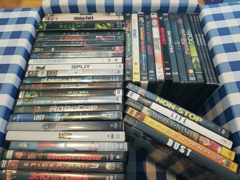 Lot Of 40 DVDs Horror Action Scifi Movies Spiderman Alien Jurassic Park