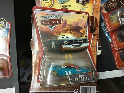 Disney Pixar World of Cars Movie Mario Andretti #22 Diecast Vehicle Brand New