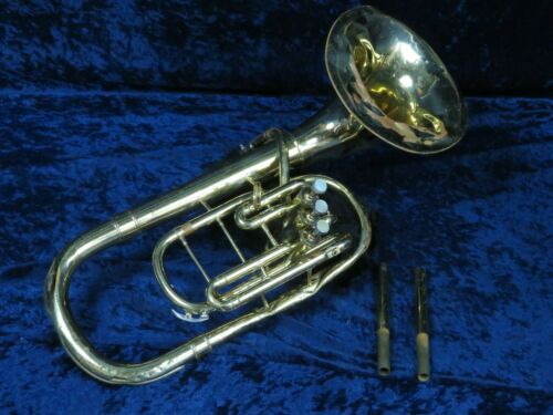 Conn Bell Front 3 Valve Alto Horn Ser#N17861 w/French Horn MPC Adapter Plays!