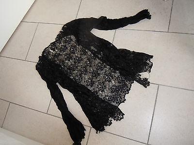 Vintage Black Lace Long Sleeved Jacket  Size M