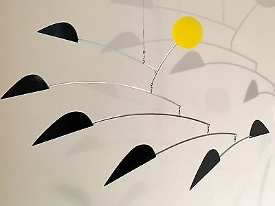 """Used, Hanging Mobile Art Sculpture - BlackBIRDS - 30""""w x 20""""h 360ModernMobiles for sale  Shipping to Canada"""
