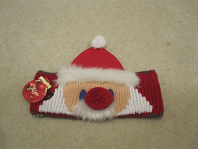 Santa ear muffs hat Christmas winter holiday adjustable new with tags ](Christmas Ear Muffs)