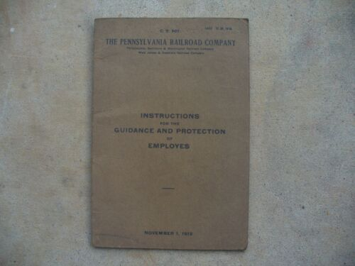The Pennsylvania Railroad 1912 Instructions For Employees Written in 3 Languages