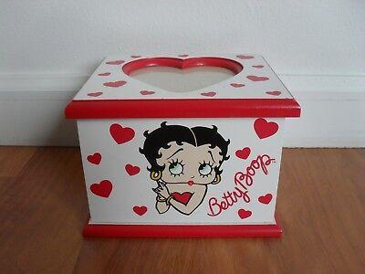 Betty Boop Wooden Trinket Keepsake Box
