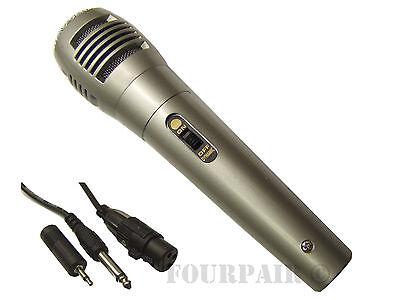 Professional Dynamic Uni-Directional Wired Microphone Mic DJ PA Karaoke 10' Cord