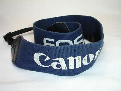"CANON EOS CAMERA NECK STRAP 2"" wide. Navy Blue"