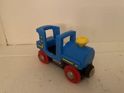 Brio Wooden Railway Train Blue Steam Engine Caboose Car RARE! Thomas Compatible