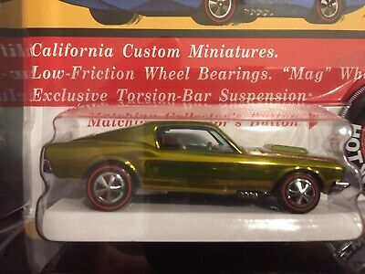 Hot Wheels RLC Original 16 Replica 1968 Package Custom Mustang in Black Box RARE