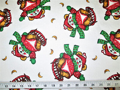 Discount Fabric Cotton Apparel Christmas Sledding Mouse Snowflakes T21](Christmas Discount)