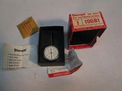 Starrett 196b1 Dial Test Indicator