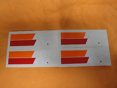 "4 K&N Filters Racing Stickers  WHITE  4 1/4"" wide!!!!"
