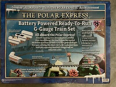 NEW IN BOX Lionel 7-11022 G-gauge The Polar Express To Run Train Set X-Mas Train