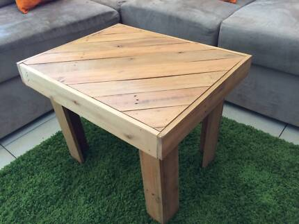 Indoor or Outdoor Small Coffee Table Made from Recycled Pallets