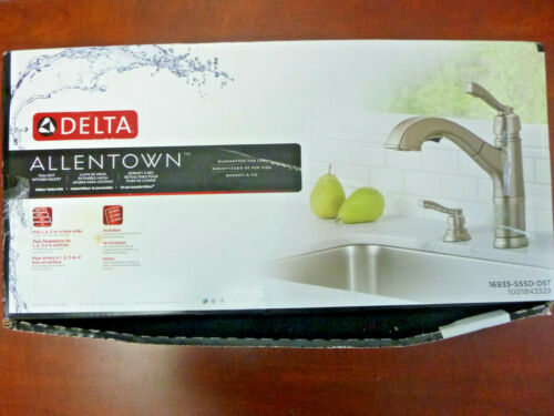 Delta Allentown Single-Handle Pull-Out Sprayer Kitchen Faucet - 16935-SSSD-DST