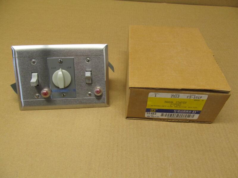 1 NIB SQUARE D 2512 FS101P 2512FS101P 2512 FS 101P 2 SPEED  STARTER