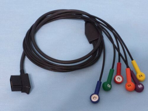 Zoll V-Lead Cable AHA 12 Lead ECG Patient Cable Precordial Lead 8000-1008