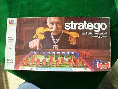 Vintage Stratego Board Game 1975 Complete Pieces Board Milton Bradley #4916