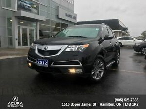 2012 Acura MDX Elite Package ELITE PACKAGE! 7 PASSENGER ! ONE...