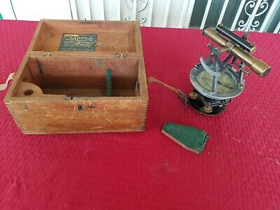 Vintage The A. Lietz Co. 2774 Surveying Transit Level W Wooden Case