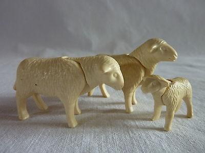 PLAYMOBIL animaux animal jeux jouet nature foret ferme 2 moutons et 1 agneau