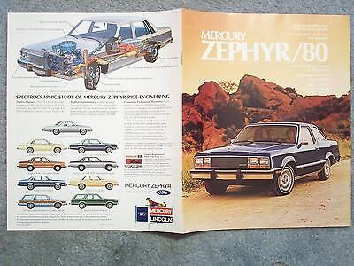 1980 MERCURY ZEPHYR BROCHURE – Z7 2-SOOR SEDAN 4-SOOR  GHIA STATION WAGON