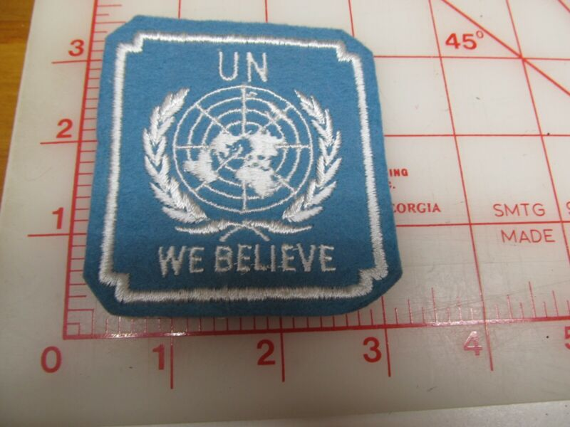UN We Believe felt collectible patch (g46)