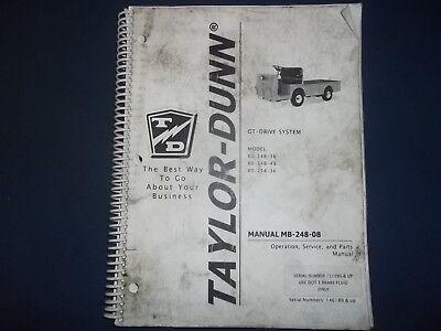 Taylor Dunn B0-248-36 B0-248-48 B0-254-36 Cart Operation Service Parts Manual