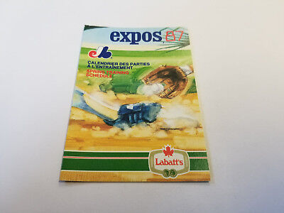 Montreal Expos 1987 Mlb Baseball Spring Training Pocket Schedule   Labatts