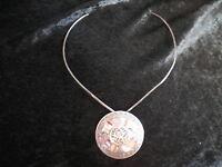 Antiguo Medallon/broche Gargantilla En Plata 925 Hecho En Mexico (lrl) -  - ebay.es