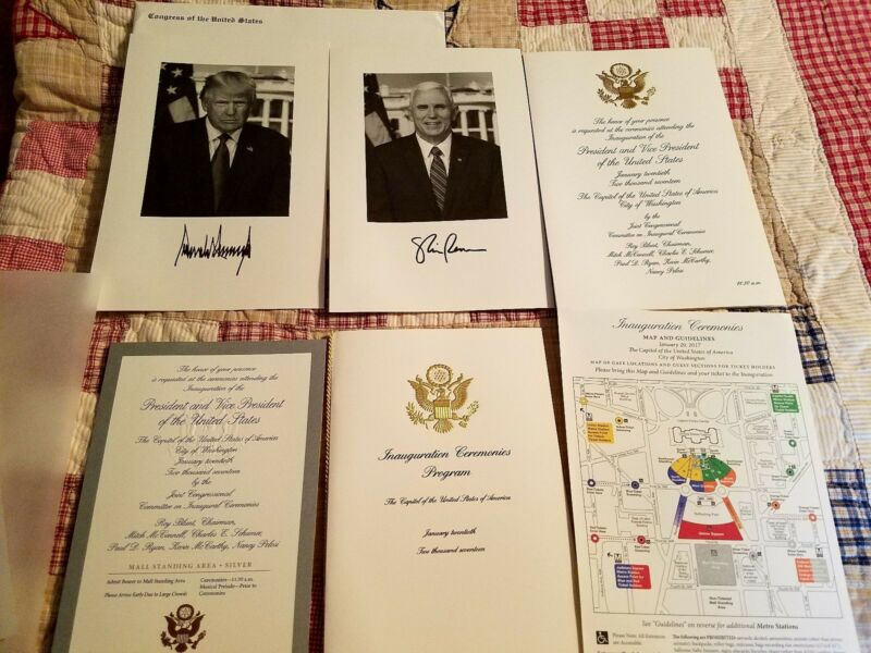 Donald Trump Congressional 2017 Inauguration Invitation package With Photos New!