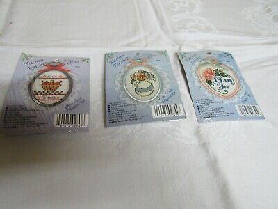 - 3 Cross Stitch Magnet Kits The New Berlin Co Kitchen Katcher New