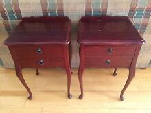Rosewood bedside tables Heathcote Sutherland Area Preview