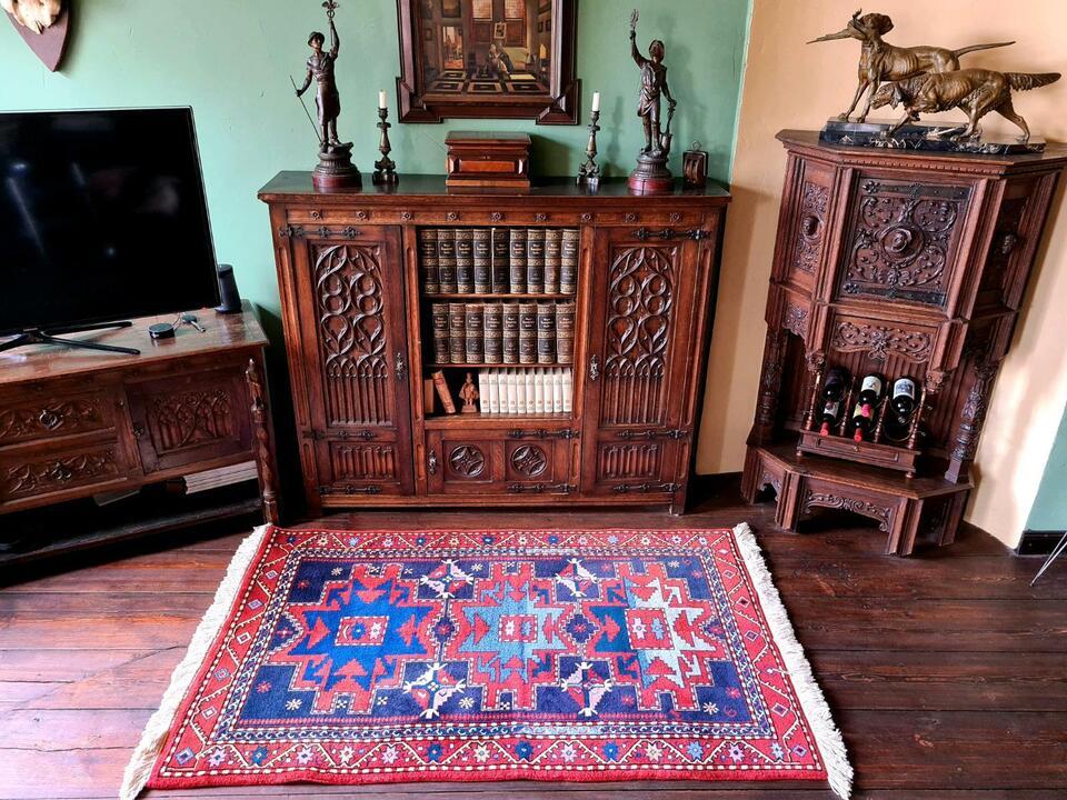 Leshgi Star Kazak Orientteppich Perserteppich Teppich 193x118 cm in Gommern